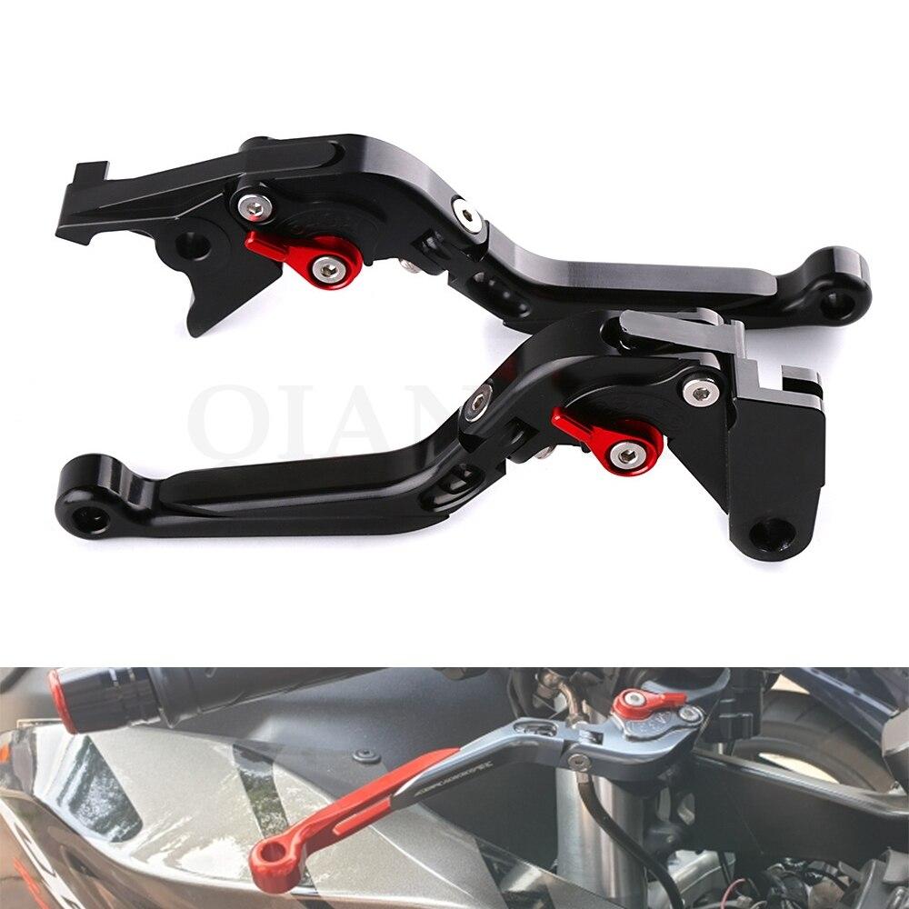 Motorcycle Brake Clutch Levers Adjustable Folding Brake Levers for SUZUKI HAYABUSA/GSXR1300 99-07 Bandit 650S 15 GSX1400 01-07