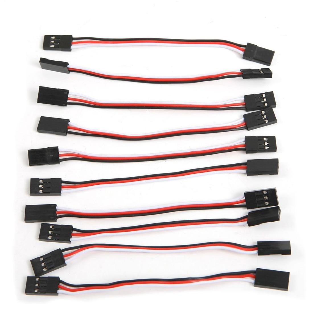 WSFS gorąca 10 sztuk 10cm przedłużacz do serw przewód zasilający kabel z męskiego na męskie