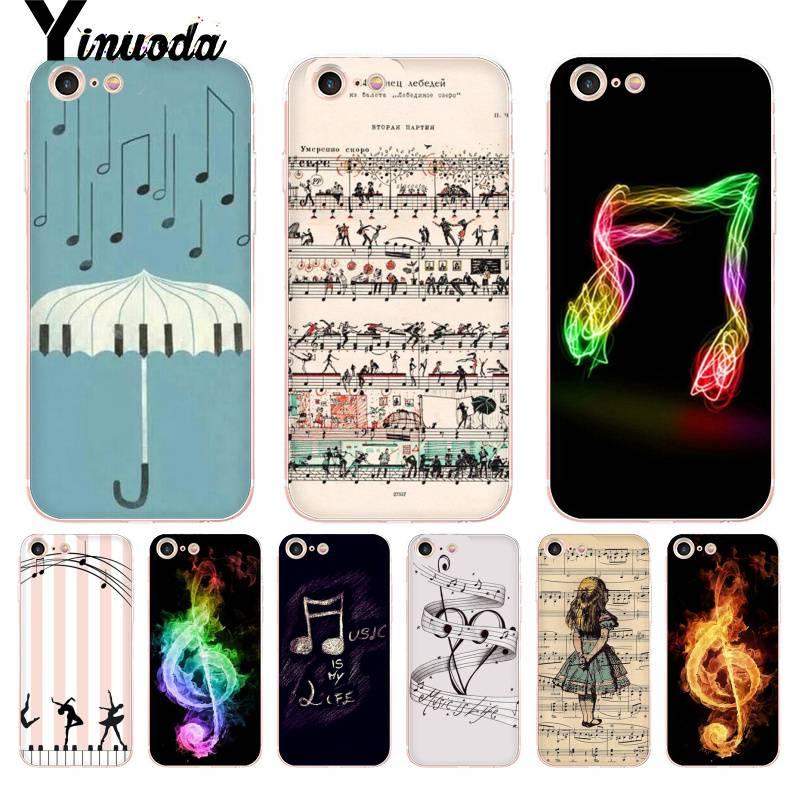 Чехол Yinuoda для iphone 7 6 X с надписью Love Music Note Piano Umbrella, чехол для iPhone 8 7 6 6S Plus X 10 5 5S XS XR 4