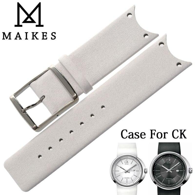 MAIKES-Correa de reloj de cuero genuino, funda de reloj fina y duradera...