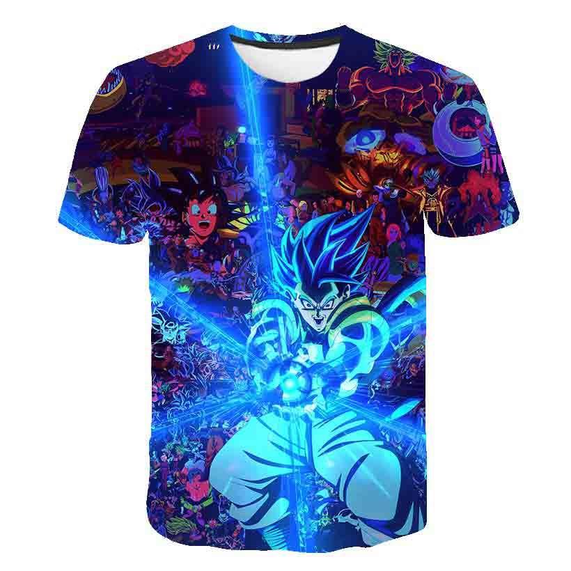 Newest Cute Kid Goku 3D T Shirt DBZ T Shirts Boys Girl Casual Tees Anime Dragon Ball Z Super Saiyan T Shirts Harajuku Tee Shirts