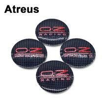 Atreus 56mm Car Tire Wheel center Rim Hub Covers Stickers For O.Z Lexus Honda Civic Opel astra h j Mazda 3 6 Kia Rio Ceed Volvo