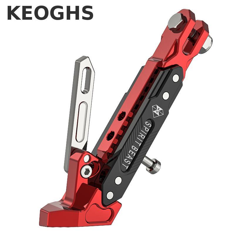 Keoghs, Marco De pie lateral para motocicleta/soporte Lateral/soporte lateral 500 kg, rodamiento Cnc de aluminio ajustable para Ducati Monster Suzuki Yamaha