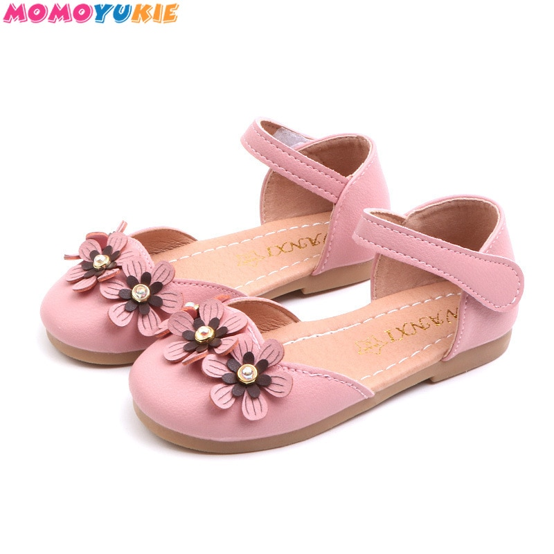 School Shoes For Girls Children Girl Fashion Princess floral beading PU Leather Single Party Shoes b