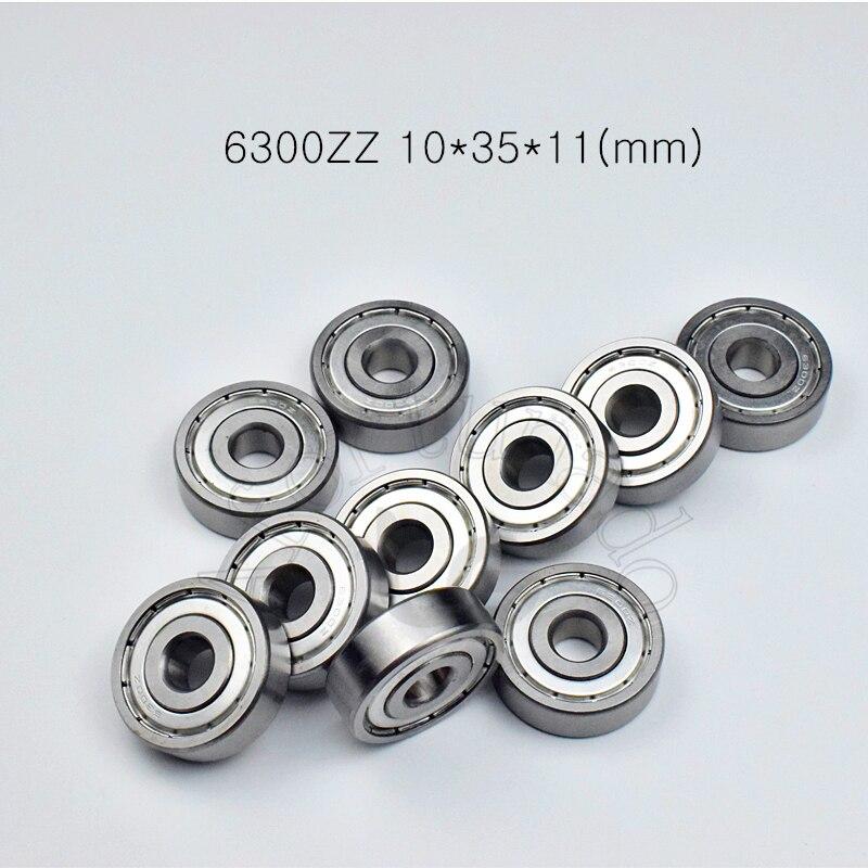 6300ZZ 10*35*11 (mm) 10 piezas rodamientos ABEC-5 6300 6300Z 6300ZZ de acero cromado profundo rodamiento de ranura