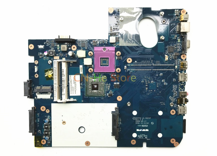 JOUTNDLN PARA GATEWAY NV78 NV74 LA-5021P MB. B5702.001 Laptop Motherboard MBB5702001 KAYF0 DDR3 HD graphics cpu livre