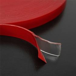 (5mm-15mm) super Forte Dupla-face Transparente Limpar Fita Adesiva de Espuma Acrílica Fita VHB Multi-papel 3 Metros