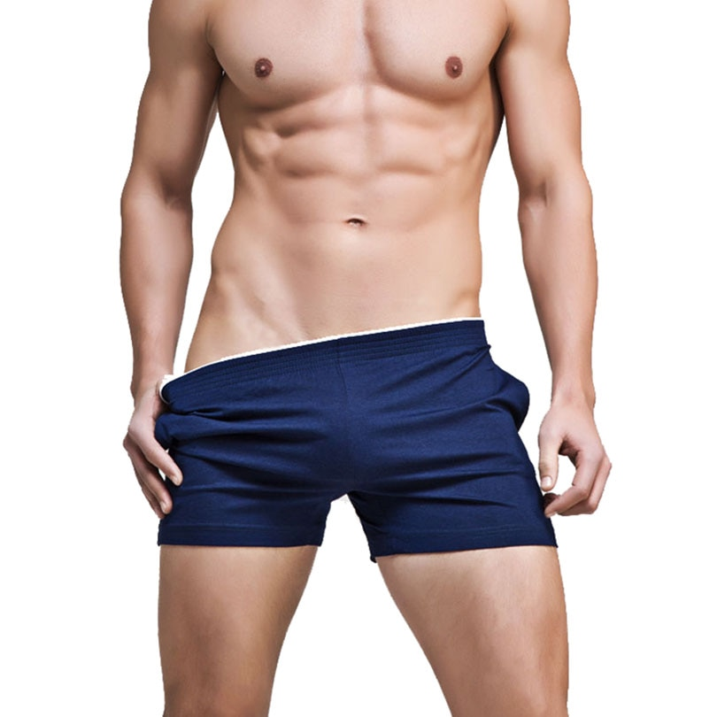 Sexy Mens Sleep Bottoms Casual Cotton Lounges Home Sleeping Shorts Underwear Summer Male Leisure Sle
