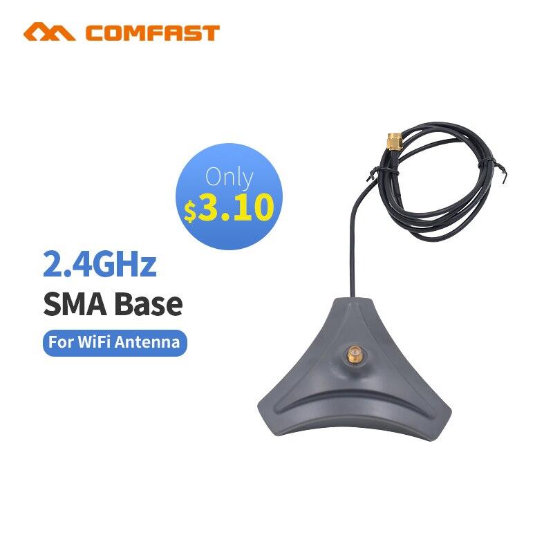 Antena barata de 2,4 GHz 10dBi, base inalámbrica RP-SMA para enrutador de módem USB, potenciador Wifi PACU SB, antena wifi comfast interior de alta ganancia