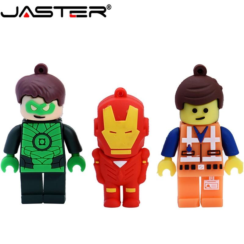 JASTER nueva LEGO serie Superman, Batman, unidad flash USB 2,0 Pen drive minions Memory stick pendrive 4GB 16GB 32GB 64GB