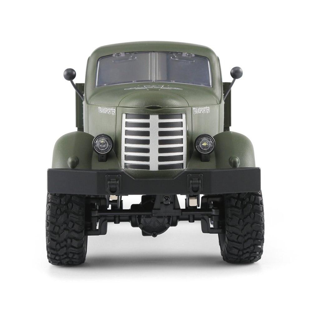 2.4g rc 116 máquina de controle remoto 6/4 movimentação da roda rastreado fora de estrada militar rc brinquedo elétrico para crianças