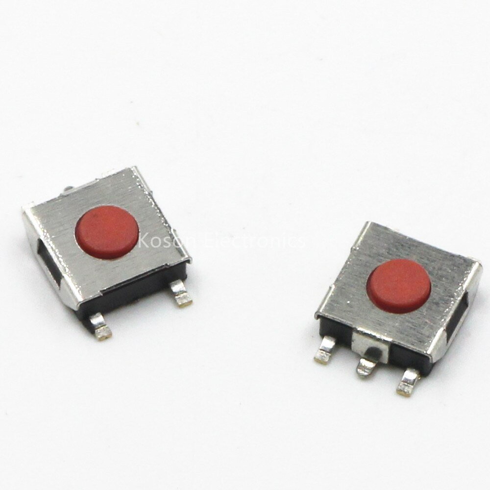20 piezas interruptor de botón rojo SMD, 6x6x3,1mm, microinterruptor táctil 6x6x3.1MM
