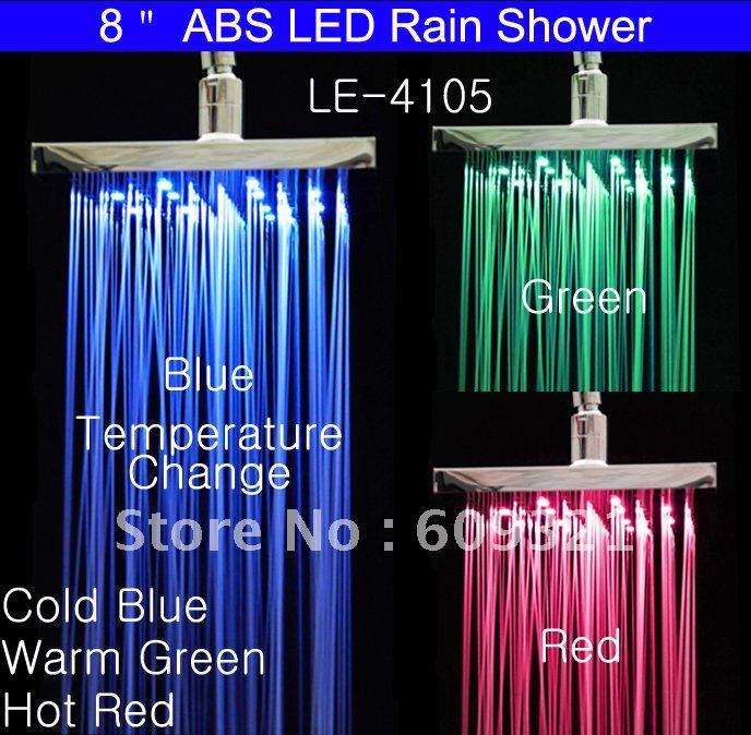رأس دش LED مع مستشعر درجة الحرارة ، دش مطري ، صنبور مياه LED