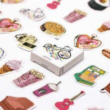 45 unids/pack Kawaii diario patrón de vida decoración diario de Navidad pegatinas Scrapbooking adhesivo de papelería suministros para estudiantes