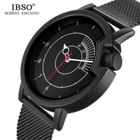 IBSO מותג חידוש Creative שעון לגבר מקורי עיצוב קטר ספורט קוורץ שעון Mens שעונים Relogio Masculino