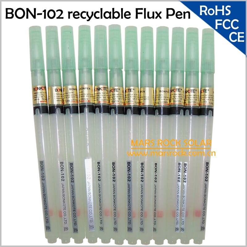 20 pçs/lote atacado revestimento Flux ferramenta BONPEN BON-102 reciclável Flux Pen ( caneta vazia ) de soldagem e suprimentos de solda soldagem fundentes