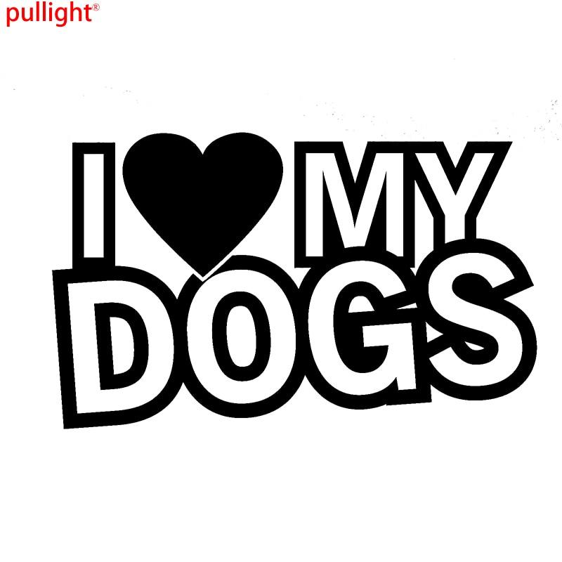 Car Styling I Love My Dogs Funny Car Novelty Window Bumper Vinyl Decal Sticker