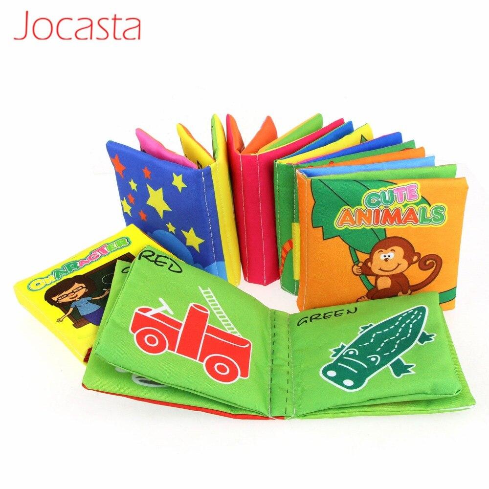 6 unids/set de juguetes para infantes bebés libros de tela suave Aprendizaje Temprano cochecito educativo sonajero juguetes niños libro silencioso 0-36 meses]