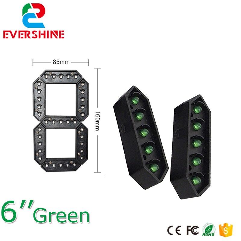 "6 ""Color verde 7 siete segmentos LED número módulo Gas precio LED pantalla signos diésel precio módulo Digital LED al aire libre"