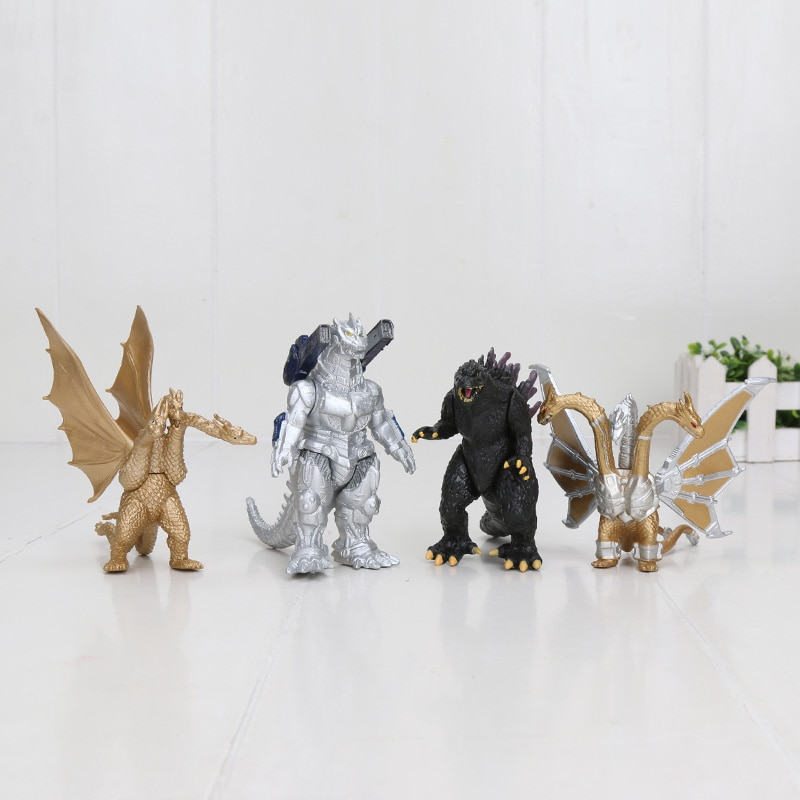 4 unids/set dibujos animados película Kaiju dinosaurio Altman figura Juguetes Películas REY DE LOS Rodan mothra acción figura movible regalos de muñecas
