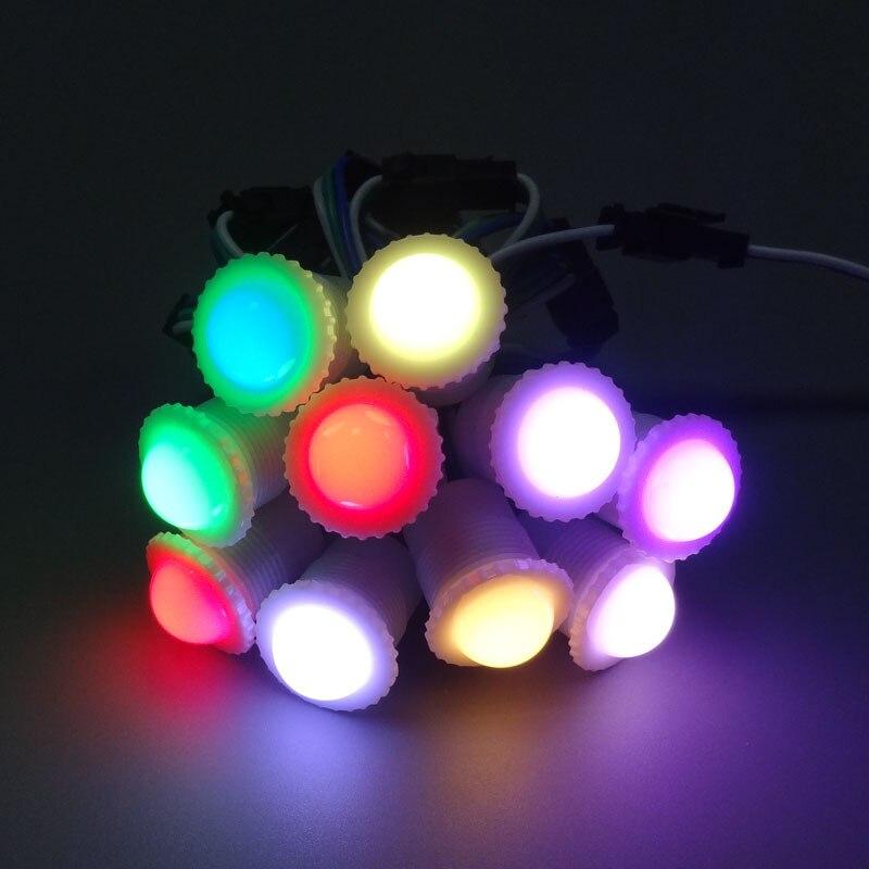 Dc5v ws2811ic 5050smd1 led rgb digital led pixel luz diâmetro 16mm transparente/leitoso capa led módulo cordas