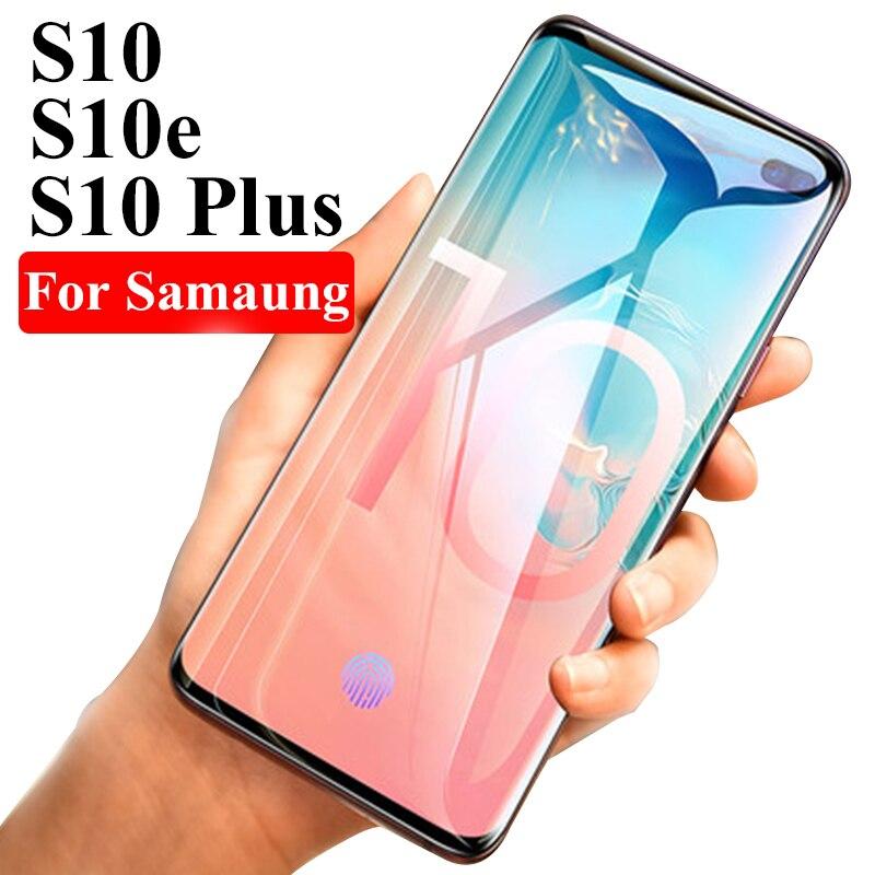 Vidrio Templado curvado 3D para Samsung Galaxy S10 Plus e cubierta protectora Glas en El para Galaxy S9 S8 Plus S 10 9 8 Note 9 8