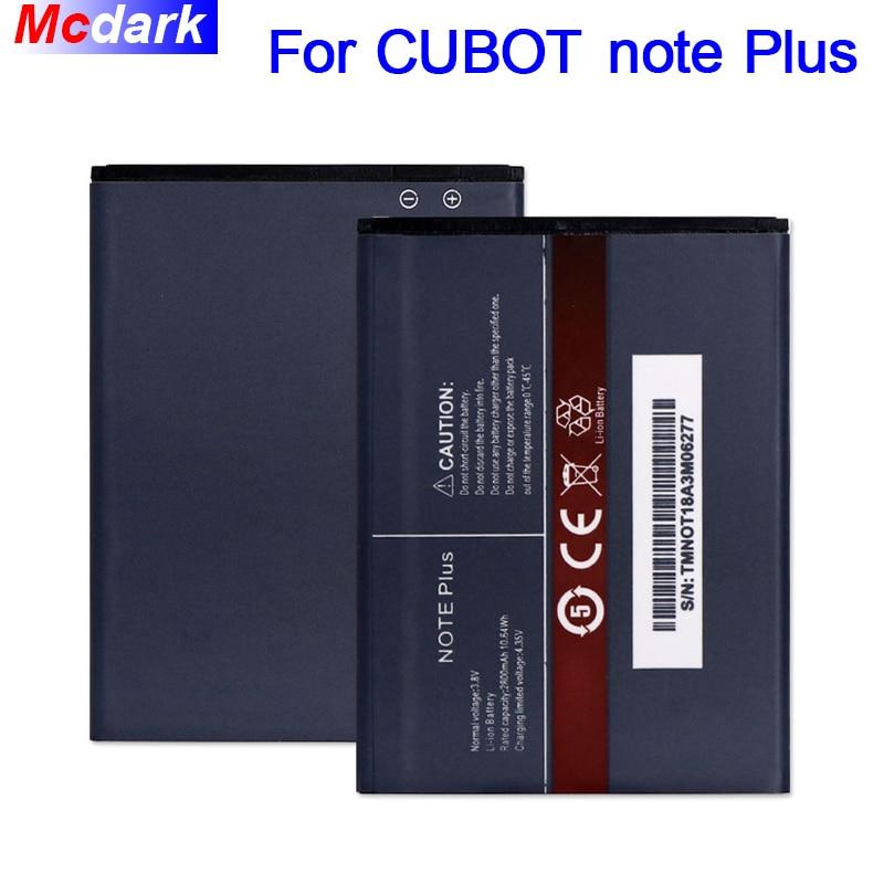 Batería Mcdark 2800mAh para CUBOT note Plus batería acumulador AKKU ACCU PIL teléfono móvil