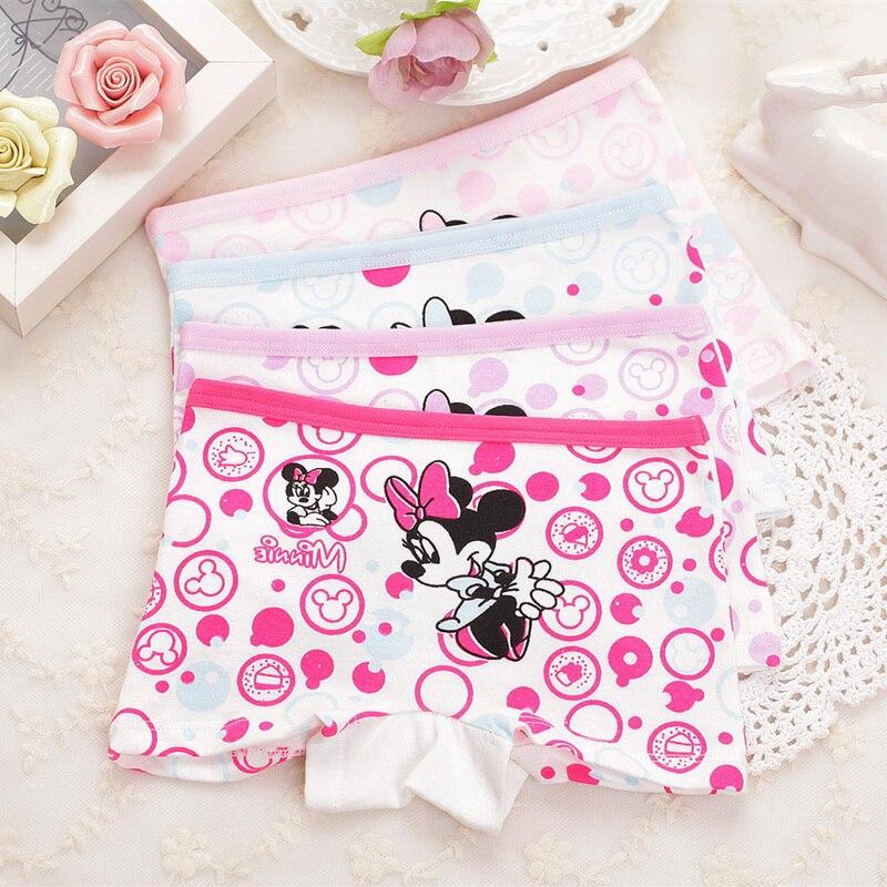 2pcs/lot Children Girl's cotton underwear female cartoon baby mouse girls boxer briefs kids panties