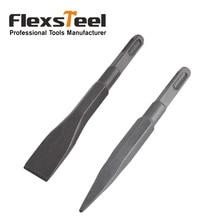 Ciseau froid plat et pointu en acier, ciseau à froid en acier flexible, 14x160mm, marteau perforateur électrique rotatif, pour menuiserie, pierre à béton