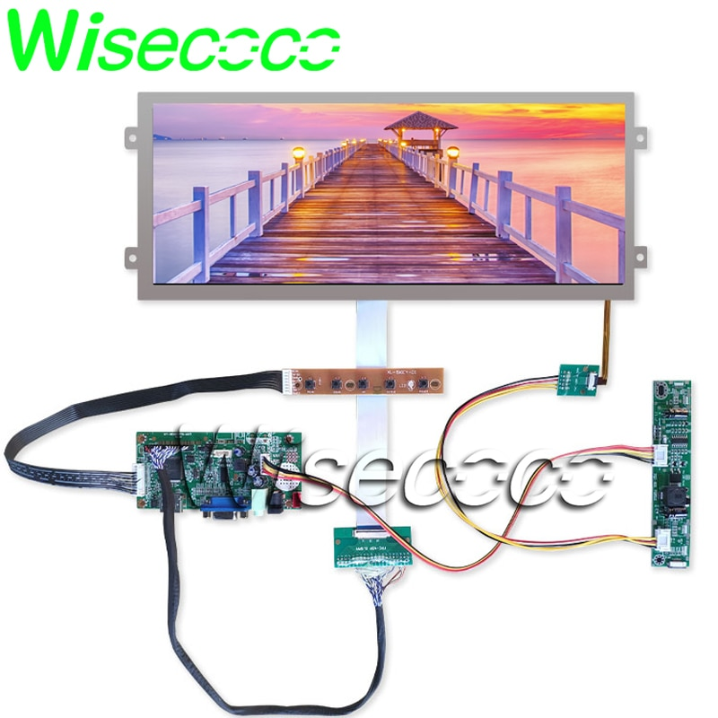 HSD123IPW1-A00 12.3 IPS LED LCD عرض لوحة ل سيارة LCD شاشات 1920*720 VGA شاشات LCD تحكم مجلس اختبار على تلو الآخر