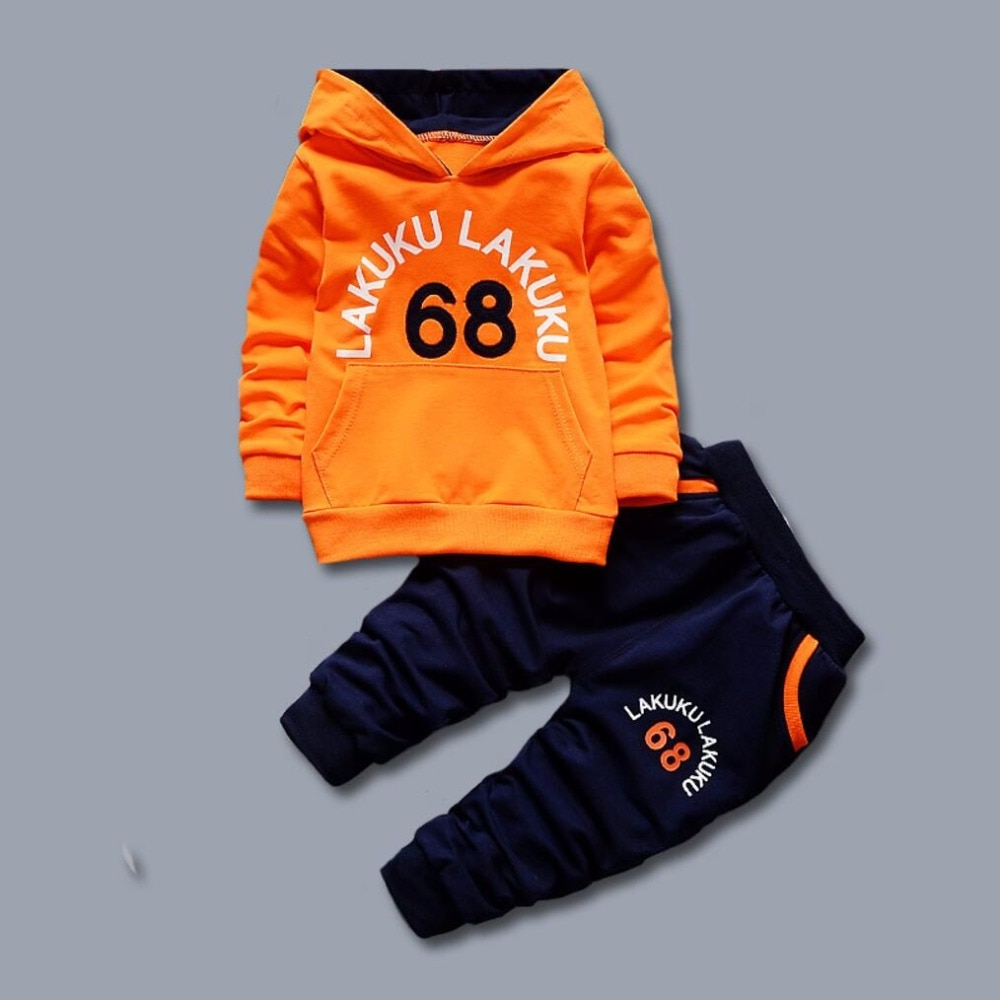 Trendy kinder kleidung Set Herbst Winter Korea Kinder Sweatshirt Top + Hosen Sport Anzug Kind Jungen Mädchen Zwei Stück sets 68