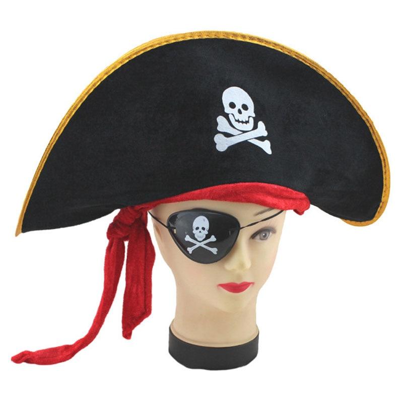 Halloween accessories captain JACK hat caribbean pirate hat skull pirate hat piracy hat Corsair cap festival party supplies