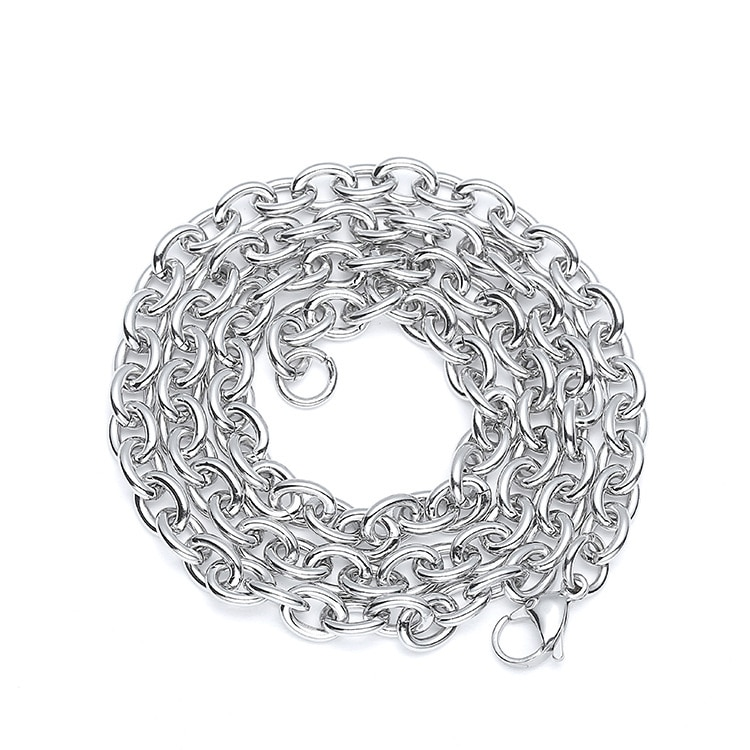 Nunca se desvanecen de acero inoxidable 316 O forma de cadena collar de hombre joyería hombre encanto COLLAR COLGANTE para hombre accesorios mano brazalete