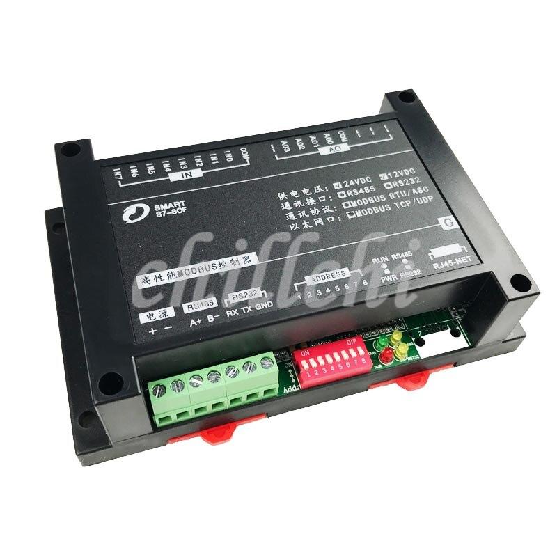 IO Modbus RTU RTU PLC módulo de entrada analógica e saída 8AI4AO extensão