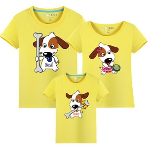 Family Clothing Summer style Matching Mother Daughter Clothes Cotton Father Son T-shirt mommy and me clothes Family Look outfits