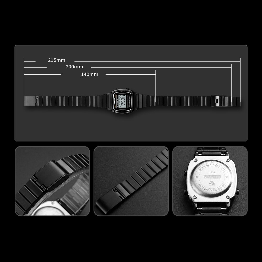 SKMEI Famous Luxury Top Brand Reloj Mujer Women Watches Waterproof Countdown Led Digital Lady Woman Clock Famale Wristwatches enlarge