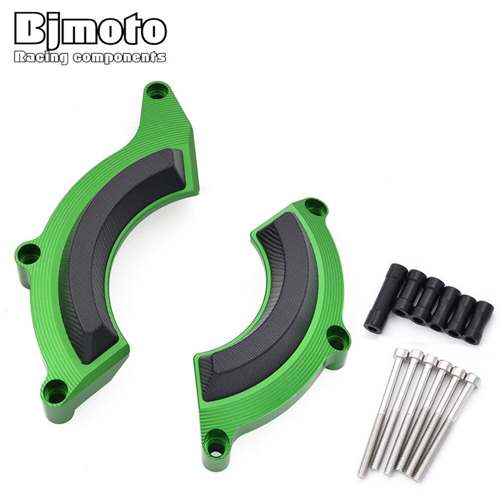 BJMOTO-إطار غطاء الجزء الثابت للمحرك الأخضر ، واقي منزلق لكاواساكي Z900 ، 2017 ، 2018 ، 2019 ، 2020