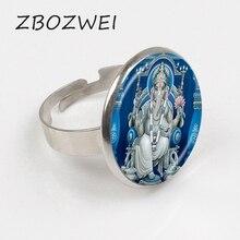 ZBOZWEI 2018 seigneur Ganesh Ganesha anneau dieu de la Fortune anneau éléphant hindou anneau bouddha méditation spirituelle bijoux anneau