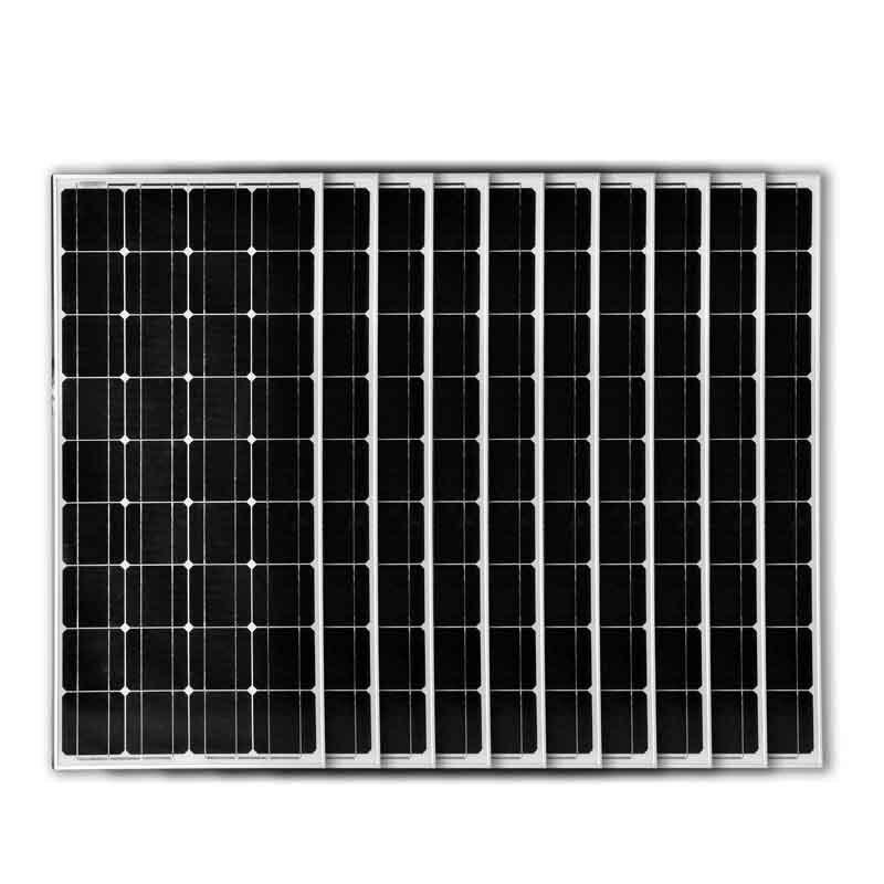 Paneles solares para caravana, coche, barco, autocaravana, fuera de la red, 1000w, 1KW, 12v, 100w, 10 Uds.