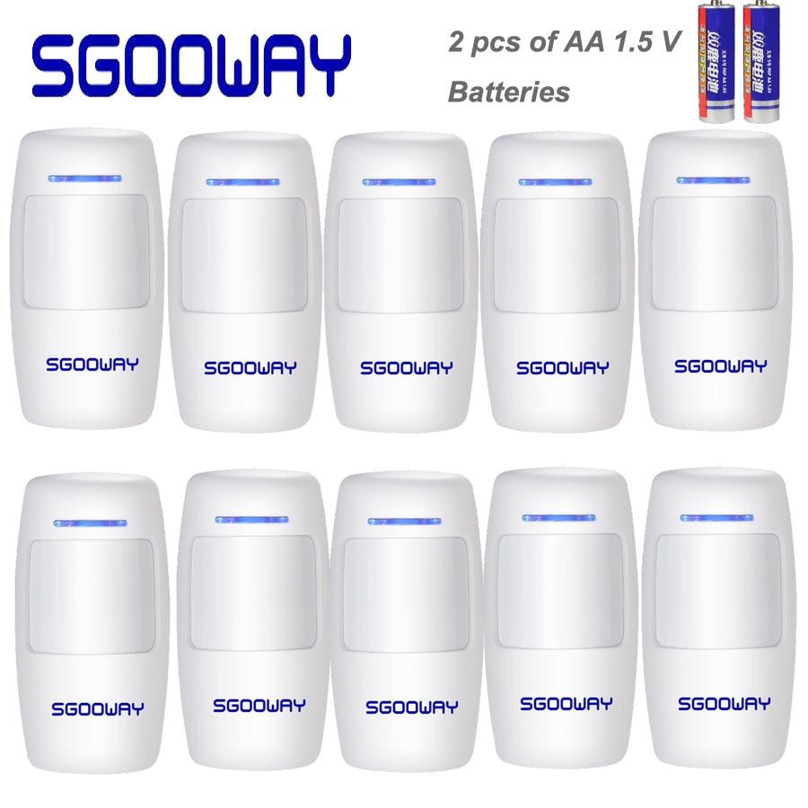 Sgooway-كاشف حركة لاسلكي بالأشعة تحت الحمراء PIR ، 433 ميجاهرتز ، 10 قطع ، شحن مجاني