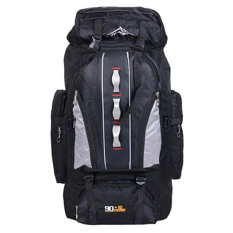 Mochila GRANDE 100L al aire libre bolsas deportivas mochila de nailon impermeable mujeres hombres senderismo escalada pesca mochila bolsa