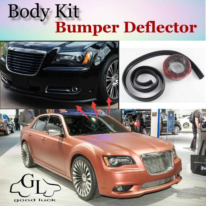 Бампер для губ дефлектор губ для Chrysler 300 300C для Lancia Thema передний спойлер юбка для вентиляторов Тюнинг автомобиля вид/комплект кузова/полоса