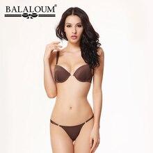 Balaloum Sexy Vrouwen T-shirt Beha En Panty Sets Kant Strass Push Up Beha Ondergoed Lingerie Set Naadloze T Terug thongs