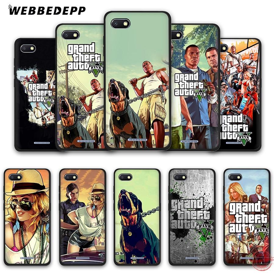WEBBEDEPP Grand Theft Auto GTA V мягкий чехол для телефона для Redmi Note 8 7 6 5 Pro 4A 5A 6A 4X 5 Plus S2 Go чехол s