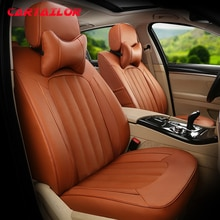 Housse de siège de voiture   Housse de siège de voiture pour Volvo XC60 et ensemble daccessoires coussins de siège de voiture en cuir de vache et artificiel