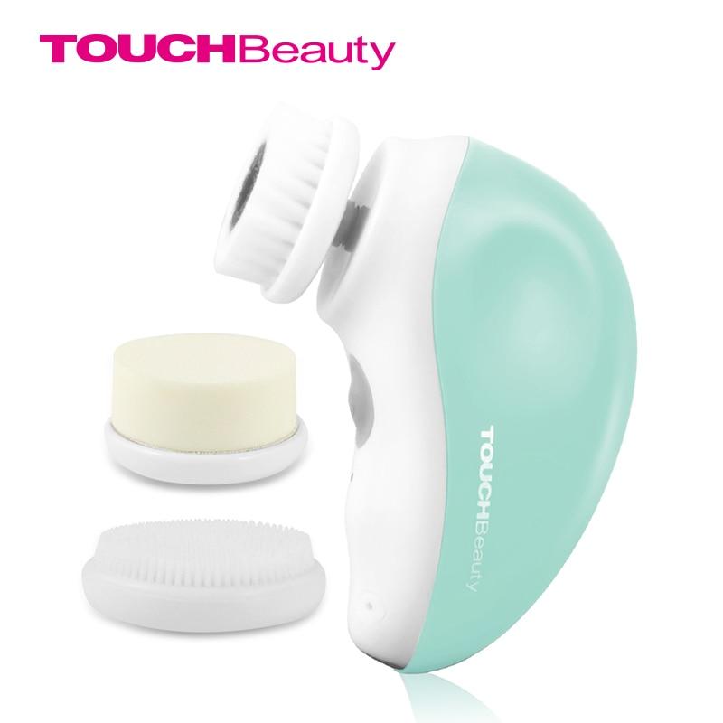 Touchbeauty 3 em 1 escova de limpeza facial elétrica giratória, jogo recarregável do curso da escova da cara de usb tb-1387