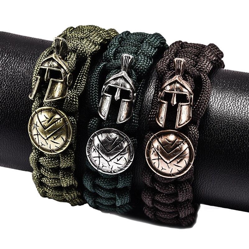 Nueva pulsera de protección para casco de ejército de supervivencia al aire libre a la moda, brazalete deportivo de Metal para hombre, regalos para hombres
