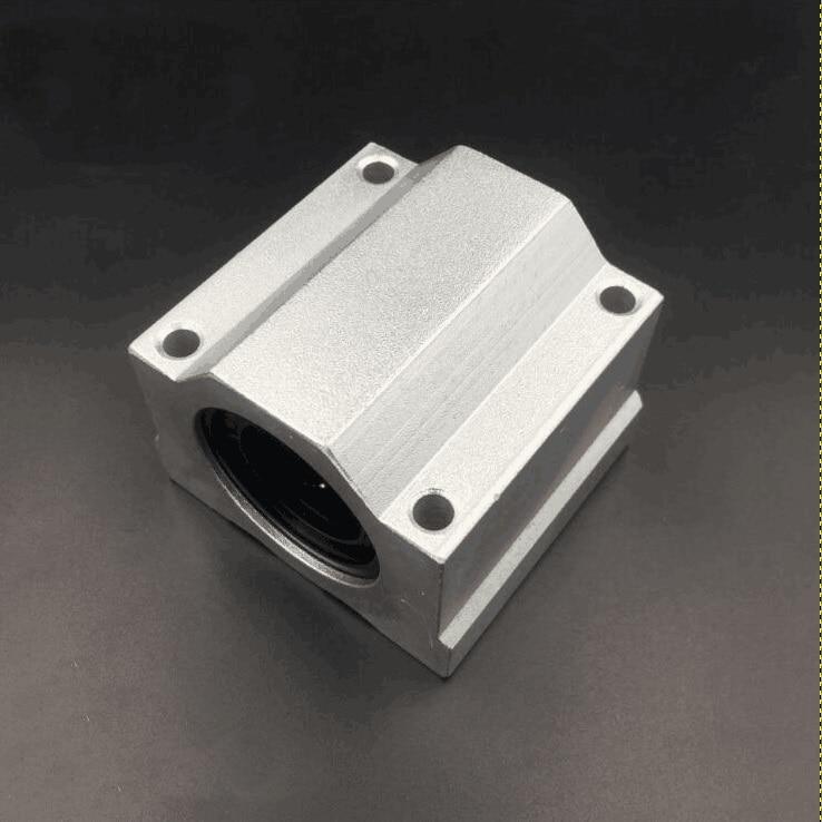 50 Uds SC25UU SCS25UU SMA25UU cojinete 25mm Unidad de carcasa lineal Eje guía lineal bloques lineales para DIY enrutador CNC impresora 3D