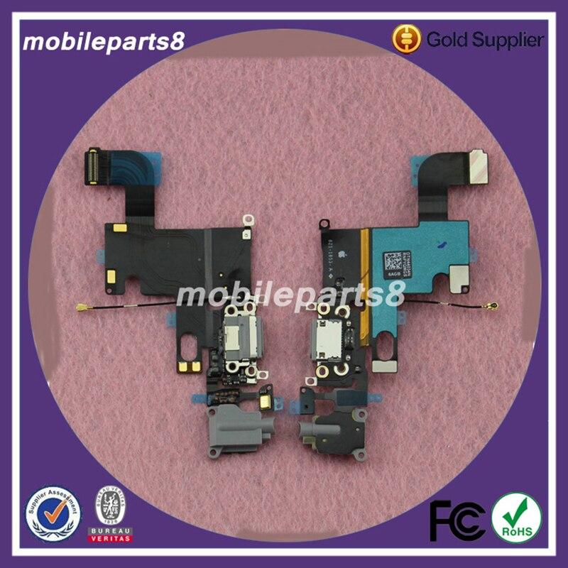 5 unids/lote OEM puerto de carga conector de base USB reemplazo flexible para IPhone 6 6G 4,7 pulgadas cargador Dock conector Flex