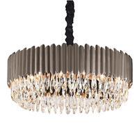 Modern chandelier luxury crystal living room lighting simple black dining room bedroom LED lamps